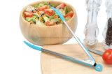 Схваты еды нержавеющей стали с концами силикона