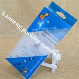 2017 rectángulos plegables móviles plásticos del PVC del diseño de la venta al por mayor del conjunto del claro de lujo del caso con la pieza inserta plástica