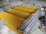 Pisada de escalera de la fibra de vidrio de FRP/GRP, pisada antirresbaladiza, calzada, plataforma