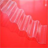 UV 보호된 100%년 Virgin 물자 물결 모양 폴리탄산염 장