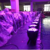 Alquiler etapa del disco 18X18W Evento RGBAW UV Luz LED PAR