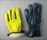 Зима прокатанная нитрилом польностью акриловая кучи Glove-5403