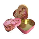 Fabbrica di goffratura di Wholsale di promozione del contenitore di cioccolato del metallo di figura del cuore direttamente