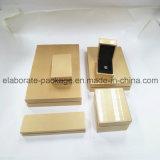 Contenitore di legno di pacchetto di Jewellry della casella di rivestimento di lusso standard di lucentezza