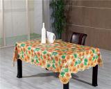 PVC por atacado do revestimento protetor de tela da fábrica barato em volta do Tablecloth impresso do teste padrão