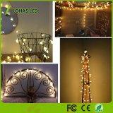 Wasserdichtes warmes weißes feenhaftes sternenklares LED-Zeichenkette-Licht für Weihnachtsdekoration