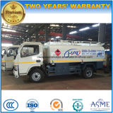 수출을%s 유조 트럭이 Dongfeng 4*2 석유 탱크 트럭에 의하여 5000L 급유한다