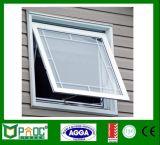 Het Gehangen Venster van het aluminium Bovenkant of Afbaardend Venster met Dubbel Glas