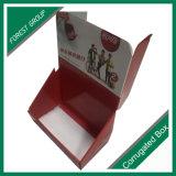 Caixas de indicador cosméticas do contador do cartão ondulado dos petiscos do alimento