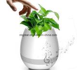 Crisol elegante del altavoz de Bluetooth y de flor de la música de Flowpot 2in1 LED