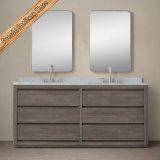Meubles de luxe de Bath de vanité de salle de bains en bois solide de Module de Bath en bois solide de Fed-204A