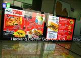 Cadre mural en aluminium suspendu en murs Boîte lumineuse LED pour panneau de menus Affiche publicitaire