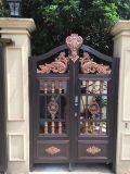 Дверь виллы двери строба двери сада обеспеченностью литого алюминия