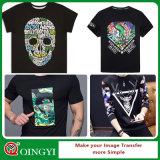 Etiqueta engomada de la impresión del traspaso térmico de la alta calidad de Qingyi para la camiseta