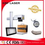 máquina portable de la etiqueta de plástico del laser de la fibra 20With30With50W para los productos electrónicos