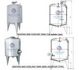 Calefacción del acero inoxidable de la calefacción de vapor y el tanque de enfriamiento