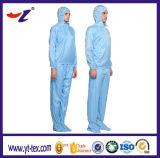Chemise lavable unisexe bleue pour l'usure de Cleanroom