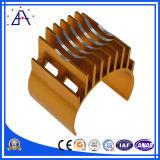 Disipador de calor de aluminio de encargo del OEM para el CNC