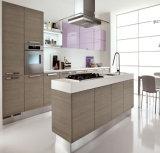 Module de cuisine de finissage de porte de mélamine de modèle moderne avec le bord plat