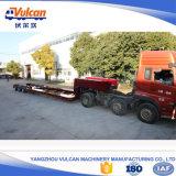 반 세 배 차축 탱크 수송 유압 낮은 침대 트럭 트레일러