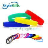 Braccialetto a buon mercato impresso del silicone della Cina con colore stampato