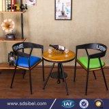 卸し売り安い鋼鉄型の産業レトロの低速の背部金属の喫茶店の椅子