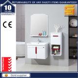 Kundenspezifischer MDF-weißer Badezimmer-Eitelkeits-Schrank mit Wäsche-Bassin