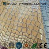 Het parelachtige Leer van pvc van de Deklaag Materiële Synthetische voor Bank/Zakken/Schoenen