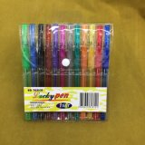 24 Farben Glliter Feder-Set (#108), Gel-Tinten-Feder
