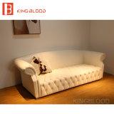 新しいモデルの居間のソファー付きのの白く贅沢な革ソファー映像