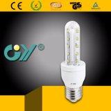 Luz de cristal del maíz de la alta calidad 6000k 2u 8W E27 LED