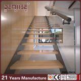 Scale diritte di punti di legno con il fascio di vetro del ferro dell'inferriata (DMS-2041)