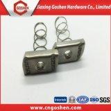 Prix d'usine noix de printemps carrées en acier inoxydable