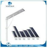 la batteria di litio del sensore di menzione 60W ha integrato tutti in un indicatore luminoso di via solare