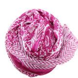 Écharpe femme imprimée imprimée 100% multicolore en mousseline de soie (AMA170609-7)