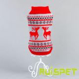 Weihnachtsrotwild-Hundestrickjacke-Haustier-Produkt-Kleidung
