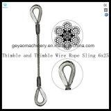 Bride-Oeil simple de câble métallique de patte glissant le foulard avec la cosse
