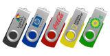 Regalo promocional del mecanismo impulsor del USB del eslabón giratorio de las ventas de Hotest