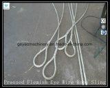 Ojos y Ojos flamencos prensados 6 * 25 Iwrc Ungalvanized Wire Rope Sling