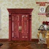 Puerta de madera de la puerta de la entrada principal de la entrada de madera del artesano (GSP1-007)