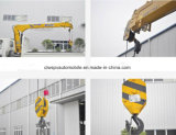 Double cabine de Dongfeng 2 tonnes de grue montée par camion droit de bras à vendre