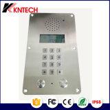 Resistente a la intemperie Teléfono Knzd-15 de acero inoxidable a prueba de polvo Teléfono Ascensor Intercom Teléfono