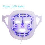 Máscara facial púrpura del profesional LED del rojo azul de 3 colores para el cuidado de piel y el tratamiento del acné