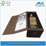 Коробка роскошного духа вина упаковки бутылки конструкции одного изготовленный на заказ складного упаковывая