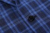 파란 격자 무늬 Mens 디자이너 형식 의류 한 벌
