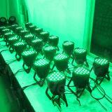 PARITÀ di illuminazione LED della discoteca DMX della strumentazione 54X3w RGBW DJ della fase