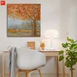Golden Trees Peaceful Countrside Oil Painting