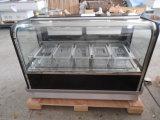 Dukers 212L Gelato Gefriermaschine, Helado Speicher-Schaukasten mit der 1.2m Länge