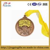 Medalla del metal del recuerdo de la raza 2016 y divisa corrientes del deporte