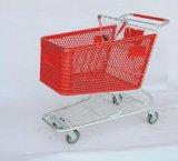 Chariot en plastique américain à achats